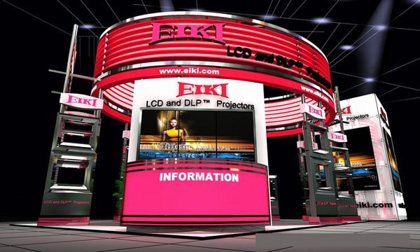 eiki公司形象展示厅设计效果图