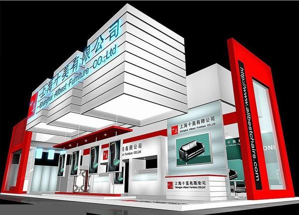 上海十美有限公司特装展厅搭建设计