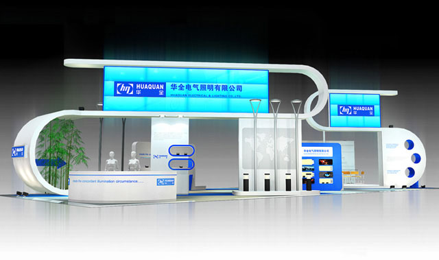 華全電氣照明展示廳搭建設計效果圖
