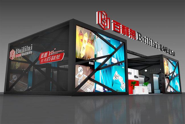百利来特装形象展览设计效果图 --零距离展会网