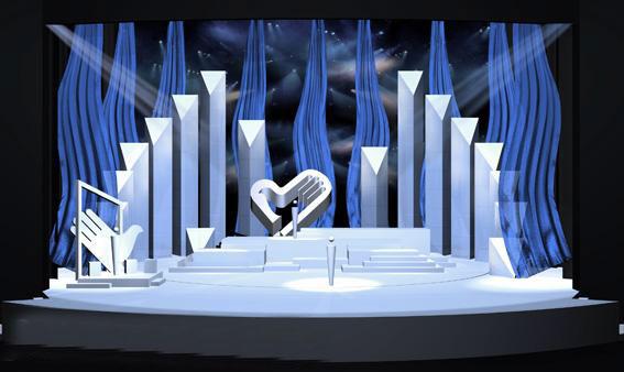 舞美设计_校园颁奖晚会舞美设计_矢岛舞美大图