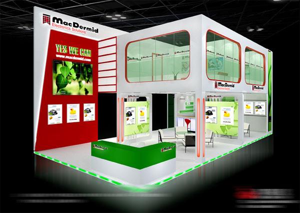 上个效果图:保德工业科技公司展览设计&