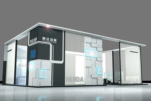 惠达洁具展览展示设计效果图图片