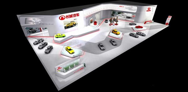 长城汽车展厅设计效果图--零距离展会网