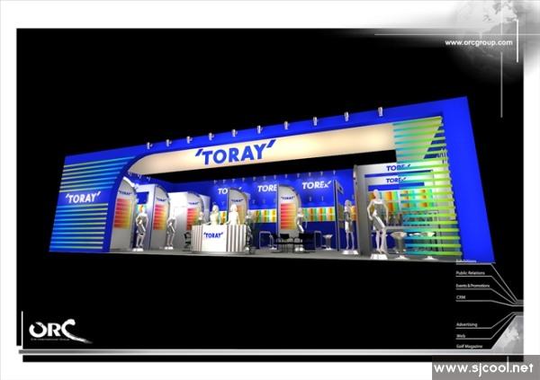 ·下个效果图:浙江东亚工程玻璃公司展厅设计效果