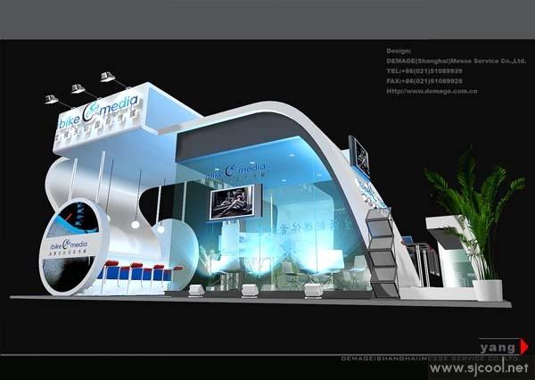 国际传媒展览设计效果图