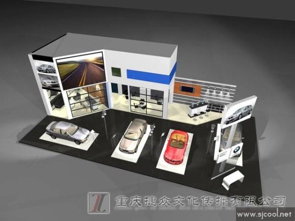 舞台设计 展览设计 效果图设计 汽车展览展示设计效果图