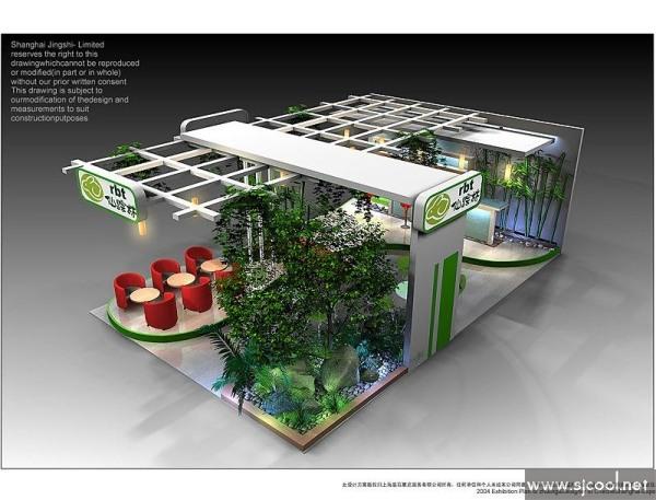 qq空间新浪微博腾讯微博人人网 ·上个效果图:现代森林花园展厅设计&