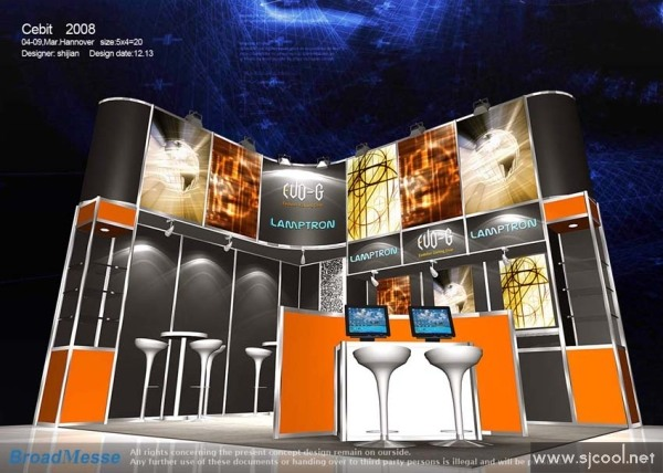 lamptron展览展示设计效果图