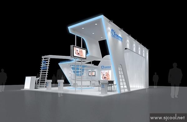 设计图库-仪唯美科技展览设计效果图-零距离展会网