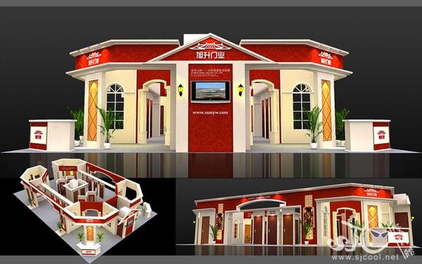 舞台设计 展览设计 效果图设计 旭升门业特装效果图设计
