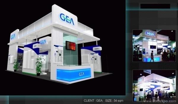 舞台设计 展览设计 效果图设计 gea展览展示设计效果图