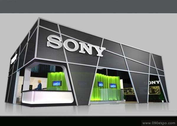 舞台设计 展览设计 效果图设计 sony展示效果图图片