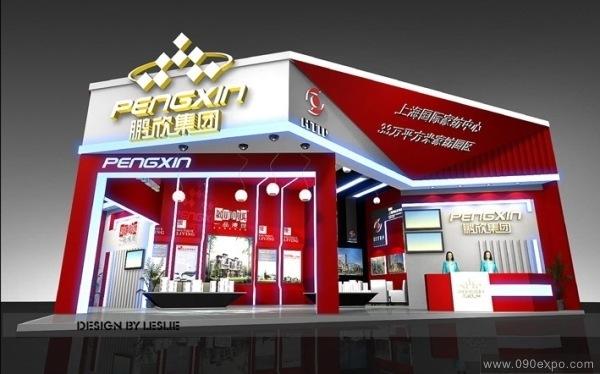 舞台设计 展览设计 效果图设计 鹏欣集团展览展示设计图图片