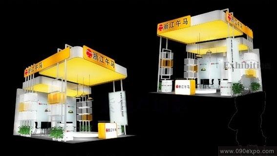 舞台设计 展览设计 效果图设计 浙江午马展厅搭建效果图
