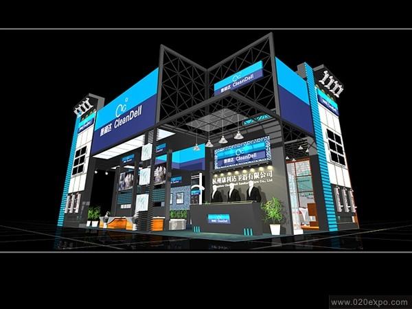 杭州康利达卫浴公司展览设计效果图--零距离展会网
