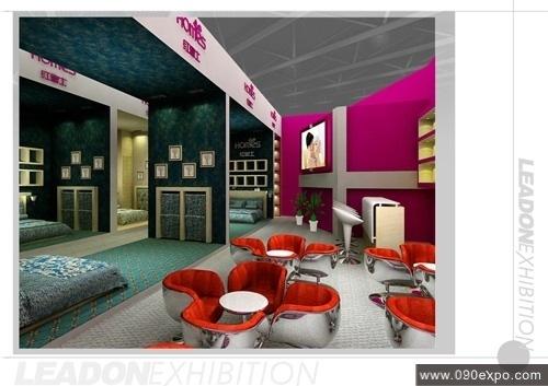 展览展示 特装搭建 上海红富士家纺公司展厅设计效果图