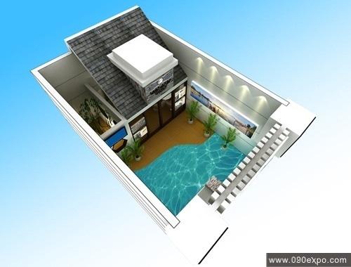 水晶湖畔展示厅设计效果图