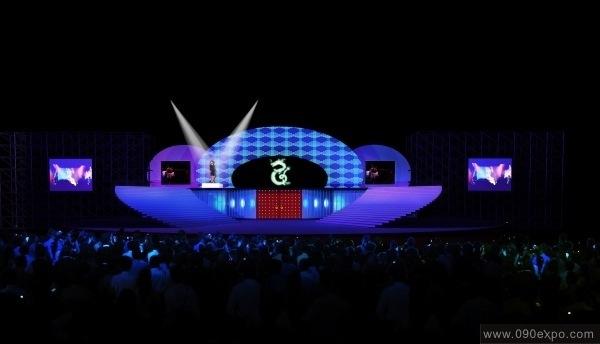 舞台设计效果图 展览特装 舞美会议 活动策划 灯光音响; 户外舞台设计