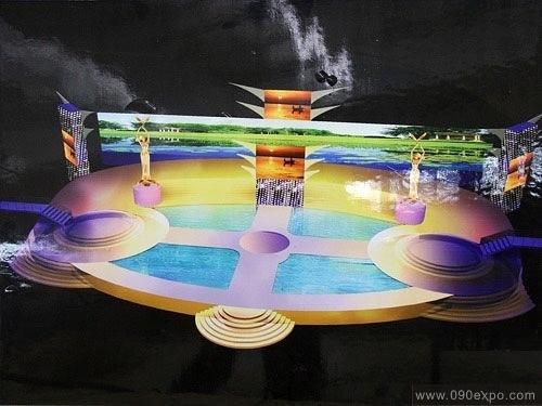 设计图库-金鹰开幕式舞台设计效果图-零距离展会网图片