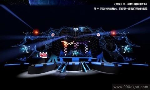 舞台设计 展览设计 效果图设计 昆明m启动计划舞美设计图