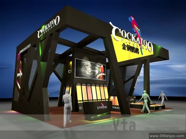 金钢鹦鹉展台展示设计图