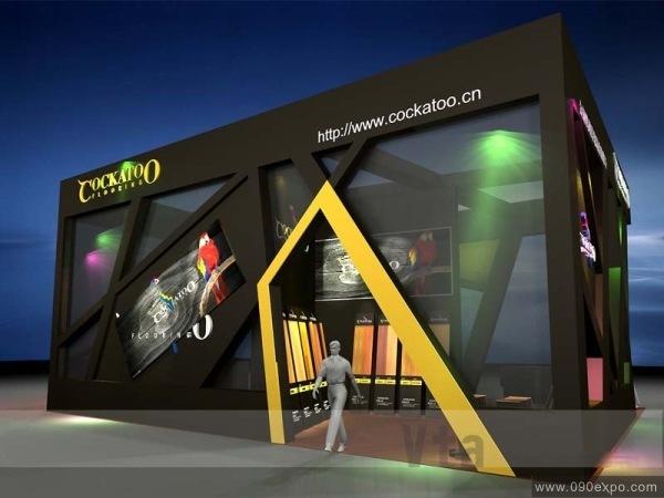活动策划 金钢鹦鹉展台展示设计图
