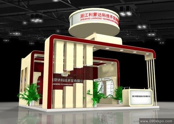舞台设计 展览设计 效果图设计 浙江利蒙达科技开发公司展厅设计
