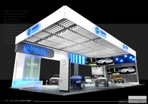舞台设计 展览设计 效果图设计 中顺汽车展厅设计效果图