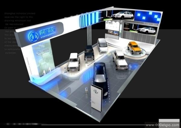 展览展示 特装搭建 中顺汽车展厅设计效果图