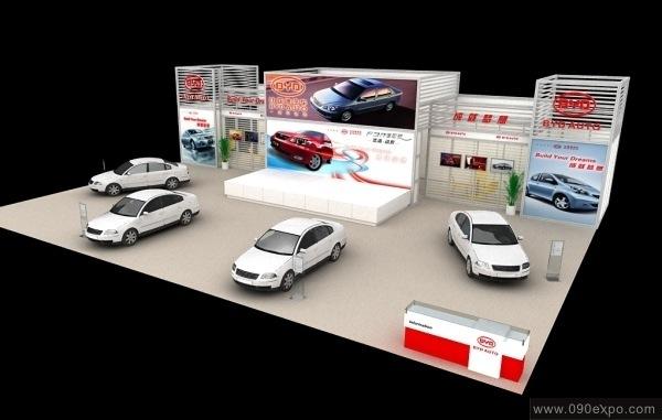舞台设计 展览设计 效果图设计 比亚迪汽车byd展台