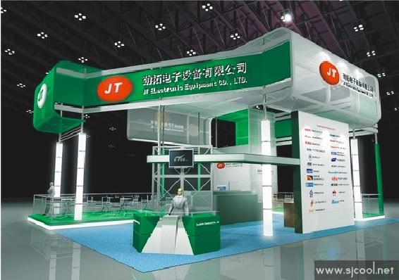 设计图库-劲拓电子设备公司展览展示设计-零距离展会网