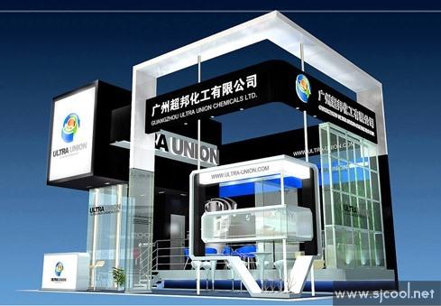 广州超邦化工公司展示设计效果图--零距离展会网