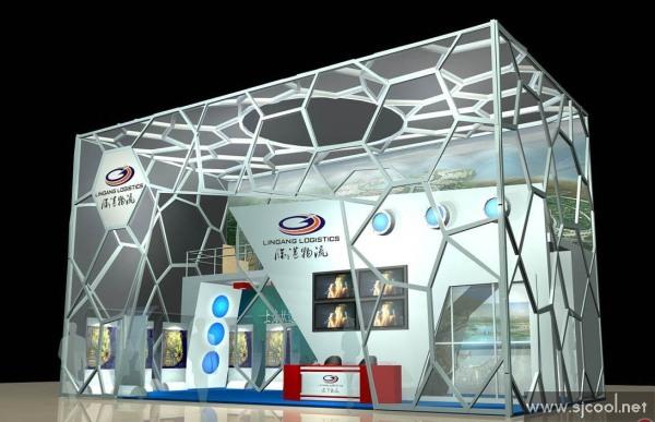 舞台设计 展览设计 效果图设计 临港物流展览展示效果图图片