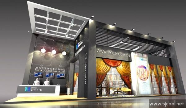 舞台设计 展览设计 效果图设计 摩力克家居布业展览展示设计