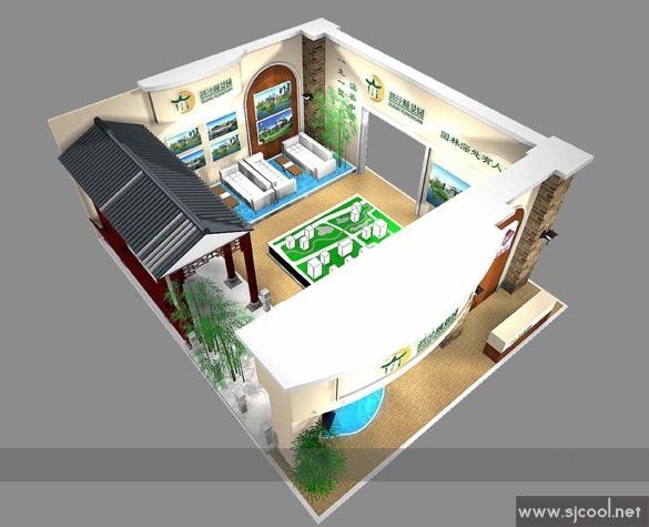 泗泾颐景园展厅展示设计效果图