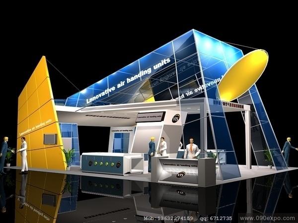 舞台设计 展览设计 效果图设计 ex029展示模型3dmax源文高清图片