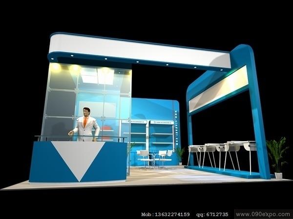 舞台设计 展览设计 效果图设计 ex196展示展台模型文件