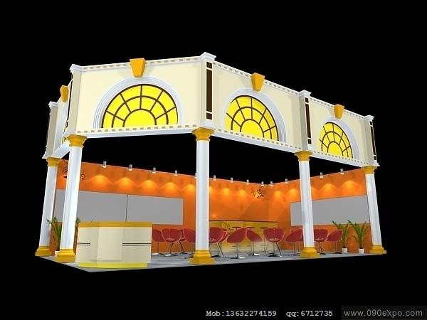 舞台设计 展览设计 效果图设计 ex2 157展览3dmax模型下载高清图片
