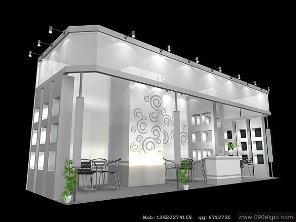 舞台设计 展览设计 效果图设计 ex2 181展会3dmax模型源高清图片