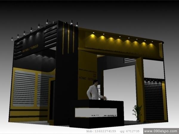 舞台设计 展览设计 效果图设计 ex2 205会展3dmax模型源高清图片