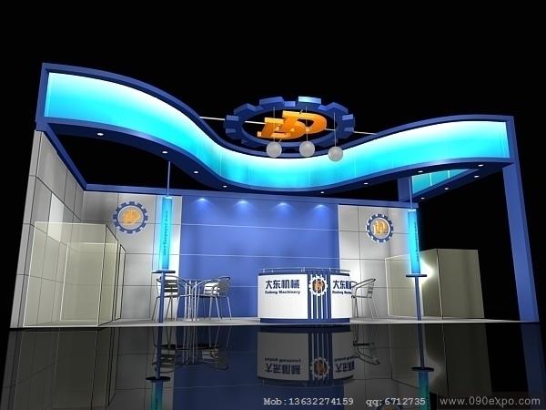 舞台设计 展览设计 效果图设计 ex2 254展位展示3dmax模高清图片