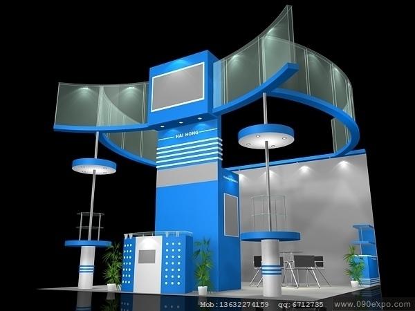 舞台设计 展览设计 效果图设计 ex2-265展会展示3d模型设计下载