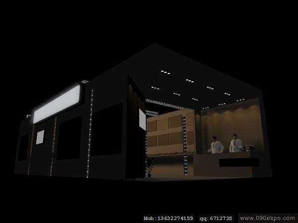 美食展展位设计平面图