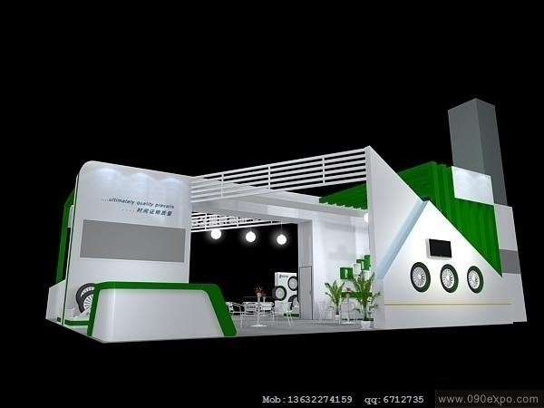 舞台设计 展览设计 效果图设计 ex1-050特装展位3d模型