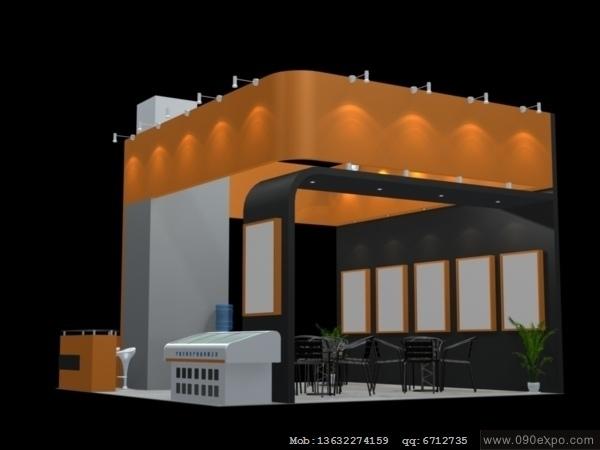 舞台设计 展览设计 效果图设计 ex2 363展览展台3dmax高清图片