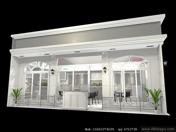 舞台设计 展览设计 效果图设计 ex1-141展览效果图3d模型设计