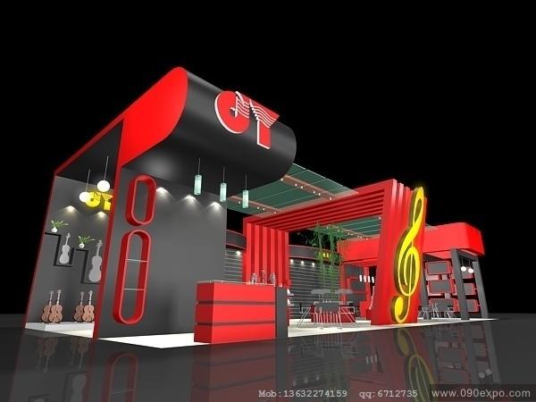 舞台设计 展览设计 效果图设计 ex1 017特装展台3dmax模高清图片