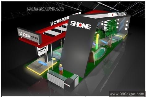 舞台设计 展览设计 效果图设计 先朗照明展位设计方案