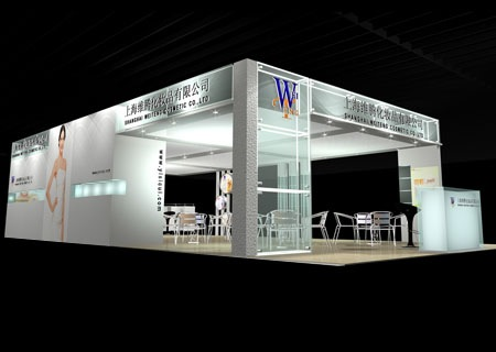 舞台设计 展览设计 效果图设计 上海维腾化妆品公司展厅设计